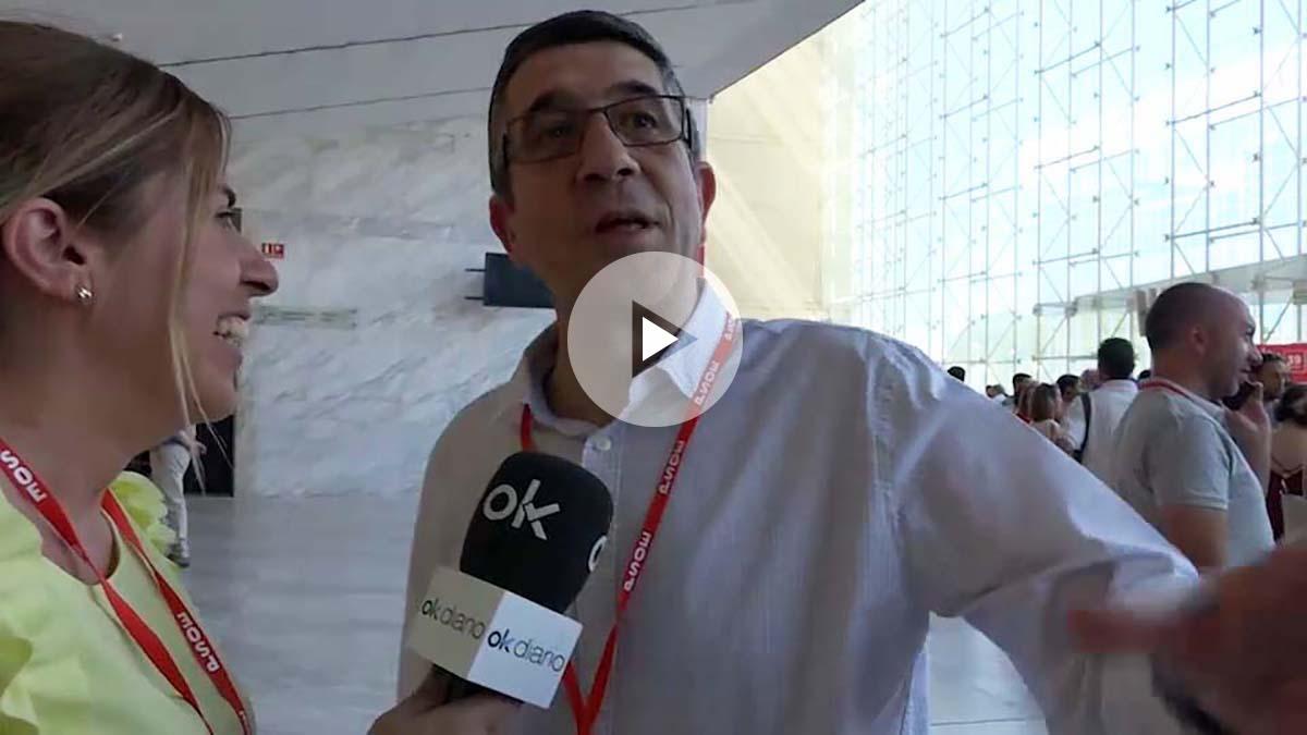 El diputado vasco Patxi López en el Congreso Federal. (Foto y vídeo: Enrique Falcón)