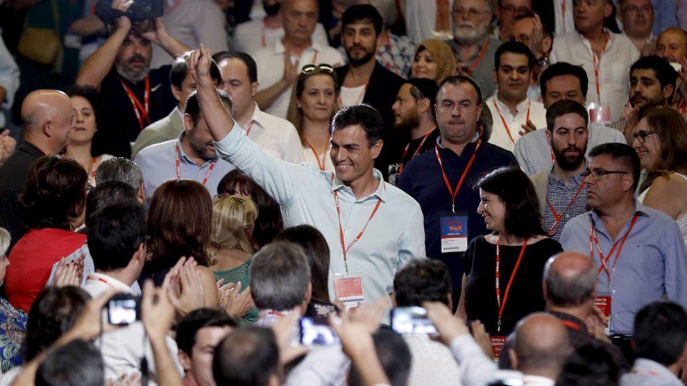 Pedro Sánchez, a su llegada al 39 congreso federal del PSOE.