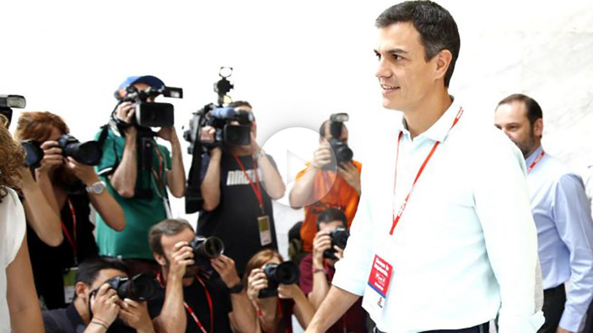 Pedro Sánchez durante el Congreso del PSOE (Foto: Efe).
