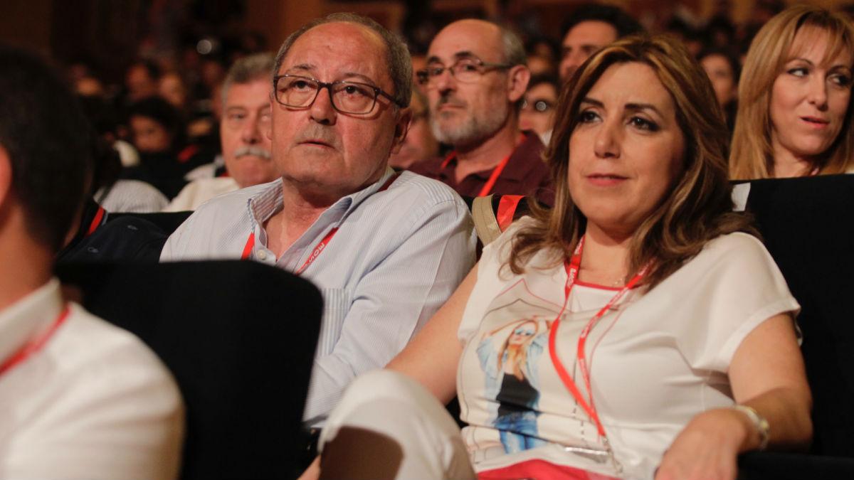 Susana Díaz, con Juan Cornejo, en el congreso del PSOE.