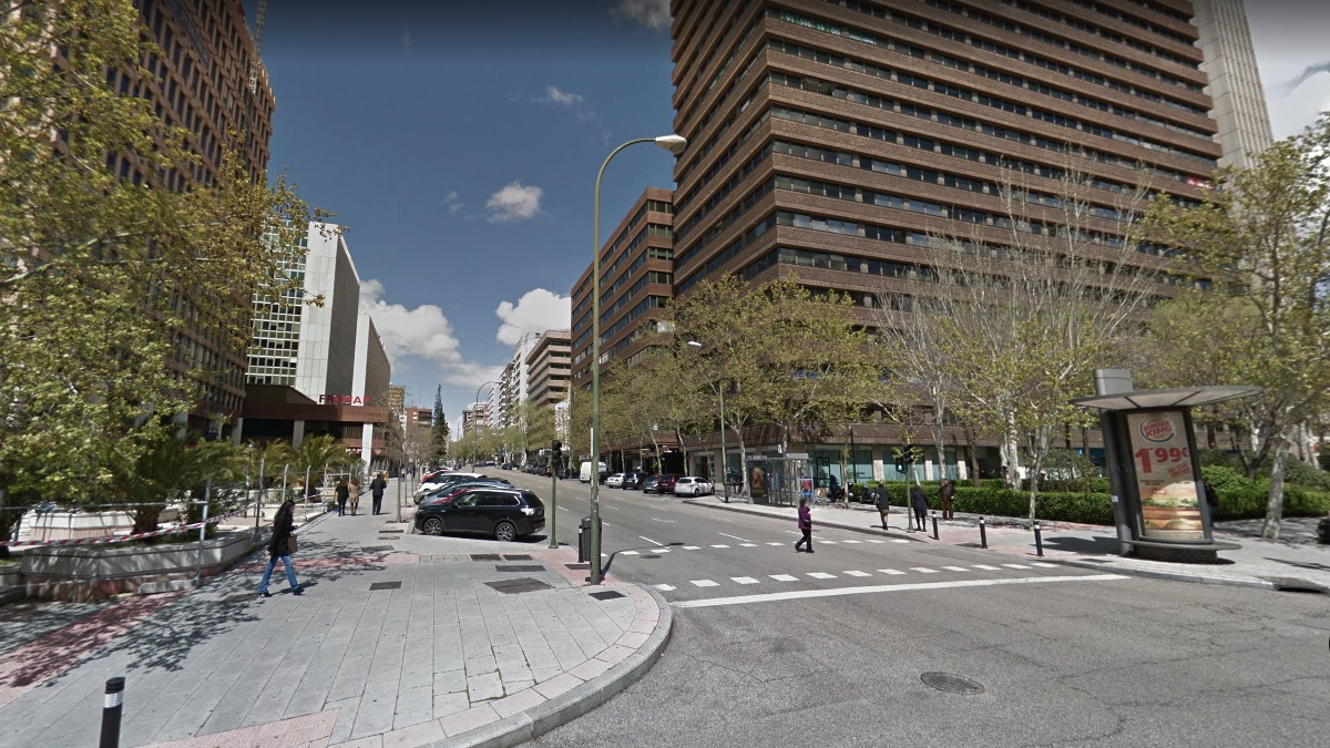Calle Capitán Haya, ahora Poeta Joan Maragall. (Foto: GMaps)