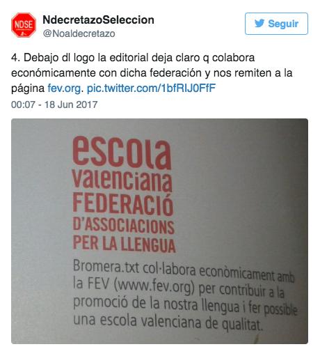 Una editorial de libros de texto de lengua valenciana financia a grupos independentistas catalanes