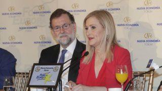 Cristina Cifuentes y Mariano Rajoy (CAM D. Sinova)