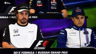Felipe Massa ha atacado duramente a Fernando Alonso advirtiéndole que es mejor que se vaya de la Fórmula 1 si no se divierte formando parte de ella. (Getty)