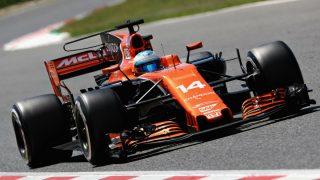 Fernando Alonso espera un fin de semana difícil en Baku ante la falta de potencia del motor Honda de su McLaren. (Getty)