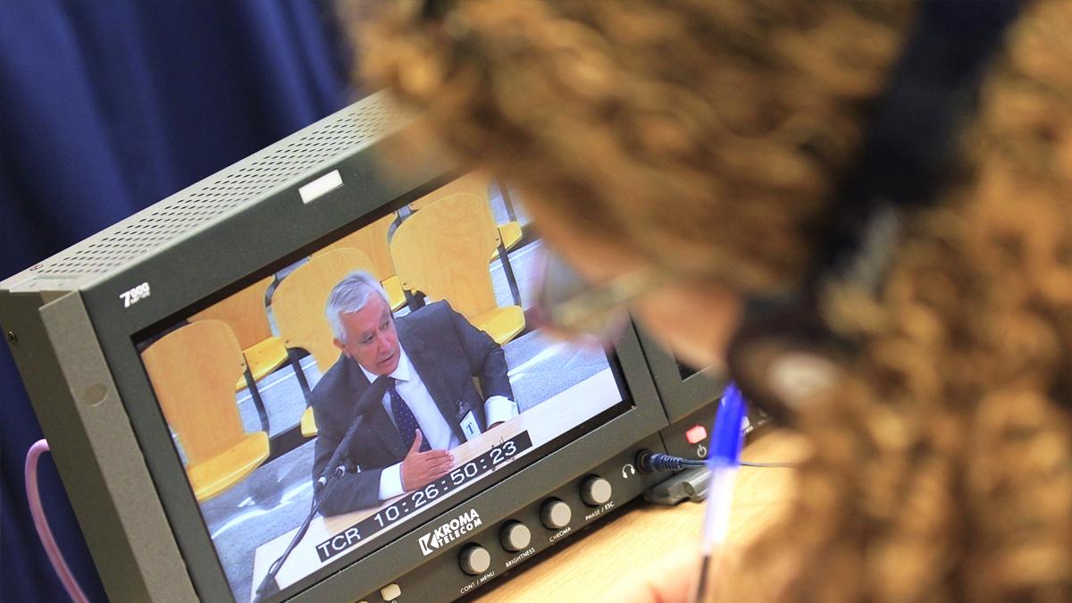 Javier Arenas en el juicio del caso Gürtel. (Foto: EFE)