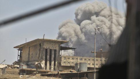 Explosión en Mosul. (Foto: AFP)