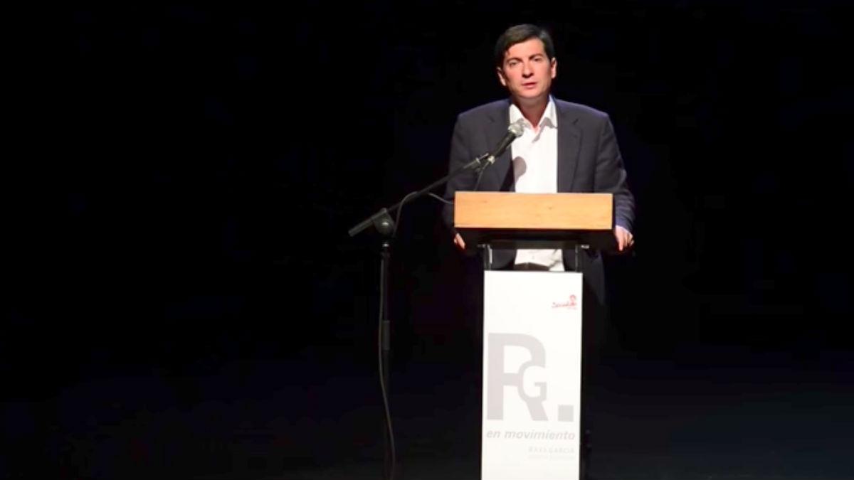 Rafael García, alcalde socialista de Burjassot. (Foto: Youtube)