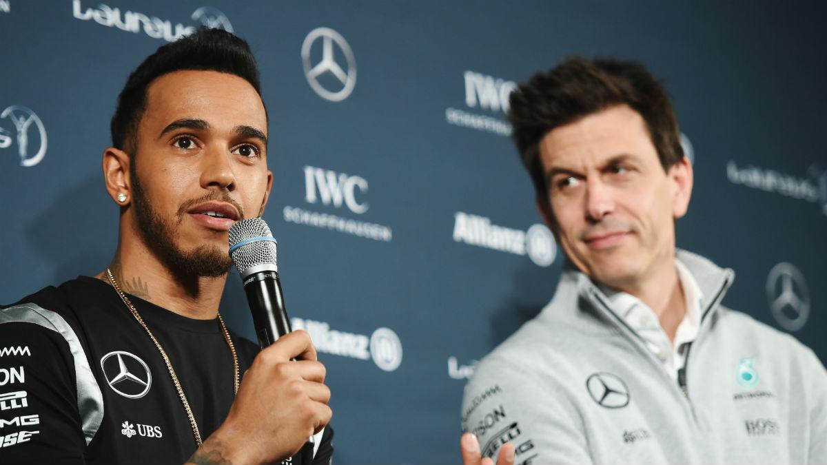 Toto Wolff considera que Lewis Hamilton se encuentra en el mejor momento de forma desde que llegó a Mercedes. (Getty)
