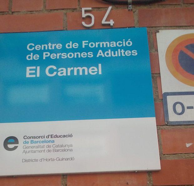 Centro de Formación de Personas Adultas, CFA, El Carmel (Barcelona).