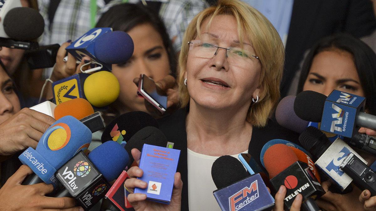 La fiscal general destituída de Venezuela Luisa Ortega (Foto: AFP)