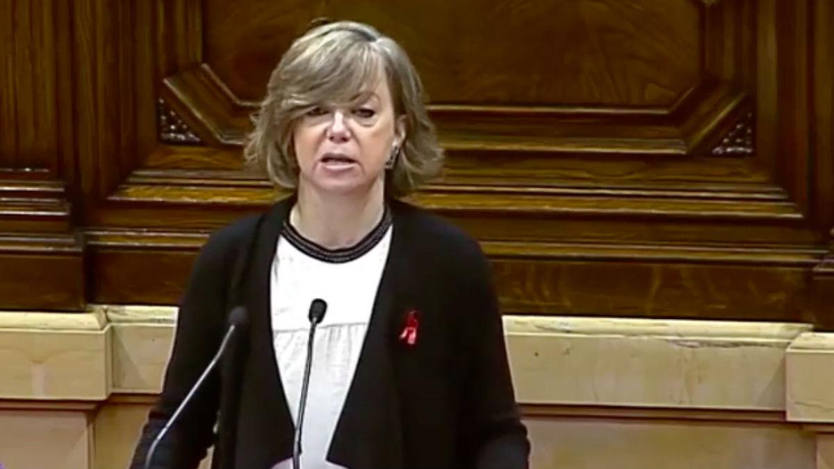 Meritxell Borràs en el Parlamento de Cataluña. (Foto: Youtube)