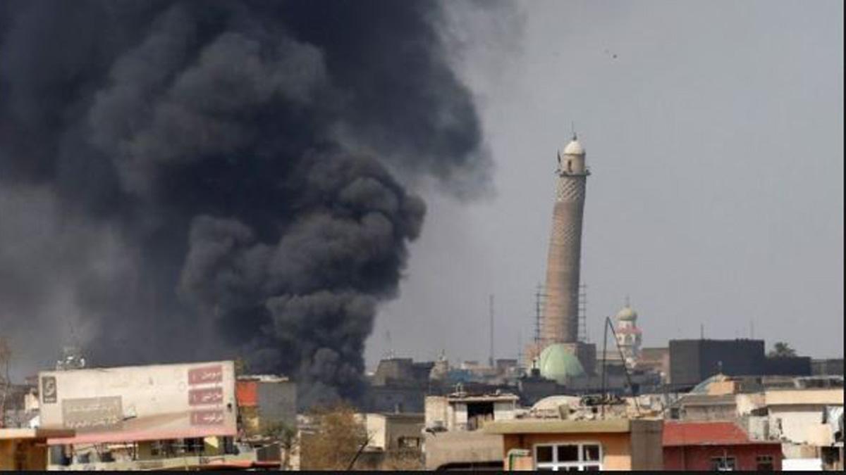 Mezquita en Mosul destruida por el ISIS.