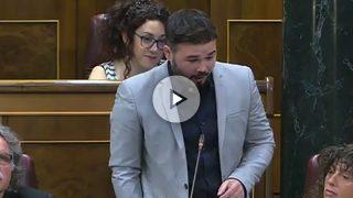 El portavoz de ERC en el Congreso,GabrielRufián
