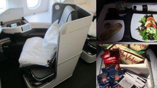 Algunos de los lujos que disponen los viajeros de la clase 'Super Diamond' de Air Canadá.