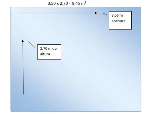 C mo calcular los metros cuadrados en tres pasos for Plafones cuadrados de pared