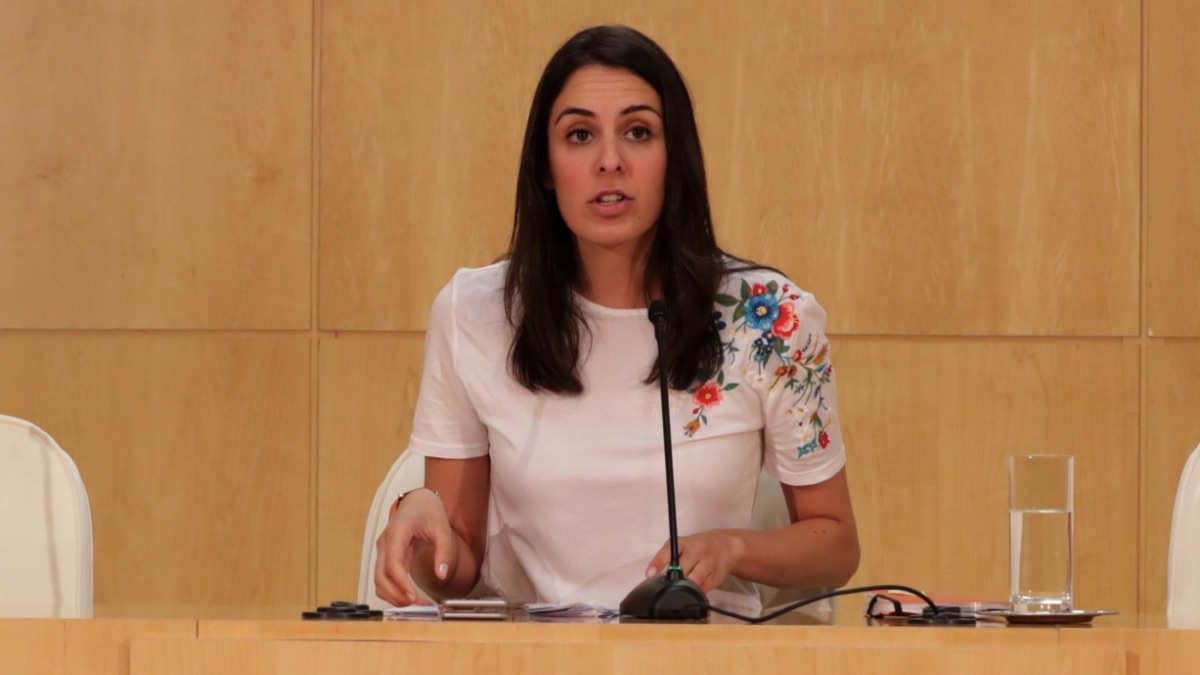 Rita Maestre este jueves tras la Junta de Gobierno. (Foto: Madrid)