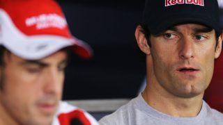 Para Mark Webber, la situación que está viviendo Fernando Alonso durante estos años no tienen ningún sentido, ya que se está desperdiciando uno de los grandes talentos de la actualidad. (Getty)