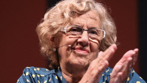 La alcaldesa este viernes en el Teatro Español. (Foto: Madrid)