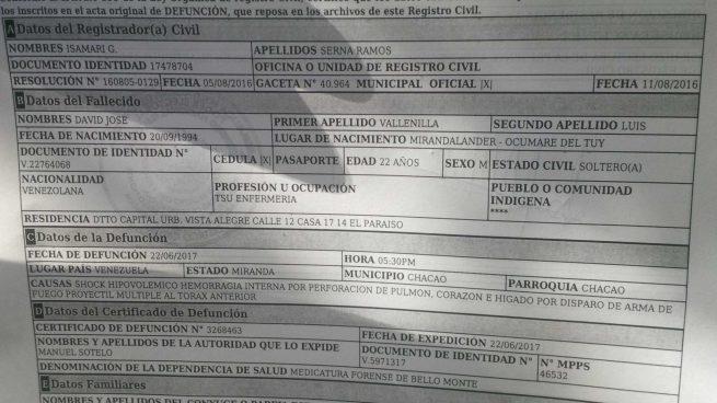 A la víctima 75 del régimen de Maduro le perforaron el pulmón, el corazón y el hígado
