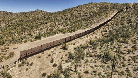 Frontera Estados Unidos-México. (Foto: AFP)