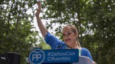 Cristina Cifuentes durante el acto en el que ha hecho balance de su legislatura. EFE