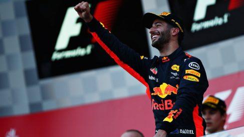 Daniel Ricciardo en el podio (Getty)