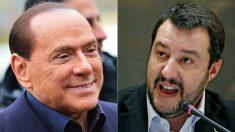 Silvio Berlusconi (Forza Italia) y Matteo Salvini (Liga).