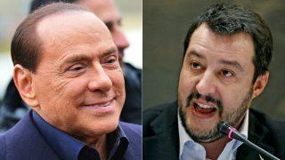 Silvio Berlusconi (Forza Italia) y Matteo Salvini (Liga Norte).