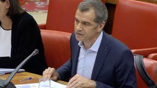 Toni Cantó durante su intervención en la comisión Bárcenas
