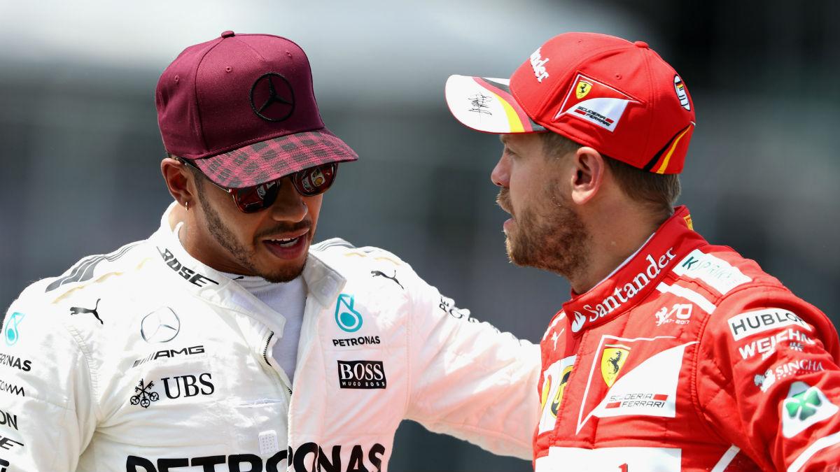 La idílica relación que parecían mantener Sebastian Vettel y Lewis Hamilton ha saltado por los aires tras la sucia maniobra del alemán en el GP de Azerbaiyán. (Getty)