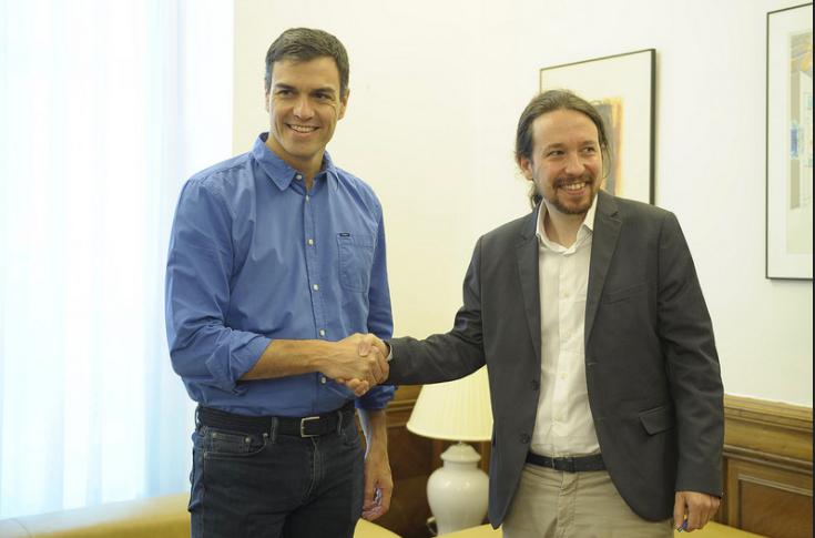 Pedro Sánchez y Pablo Iglesias en una reciente reunión (Foto: EFE).