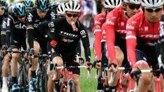 Cardoso, junto a sus compañeros de Trek en el pelotón. (AFP)