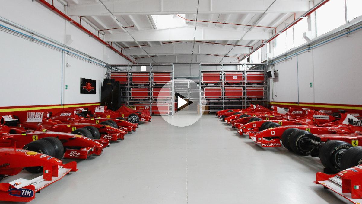 Durante la visita a la fábrica de Ferrari en Maranello los ganadores del concurso podrán ver todos estos ferraris en la misma habitación. Foto: Getty