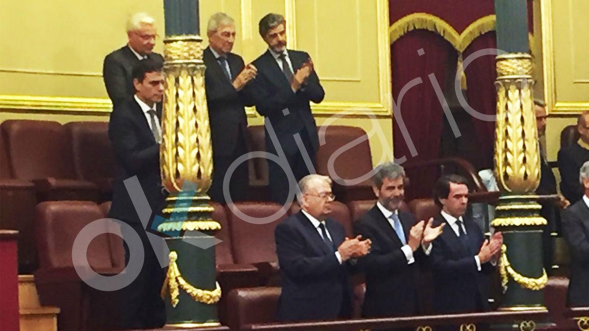 Pedro Sánchez en la tribuna del Congreso. (Foto: OKD)