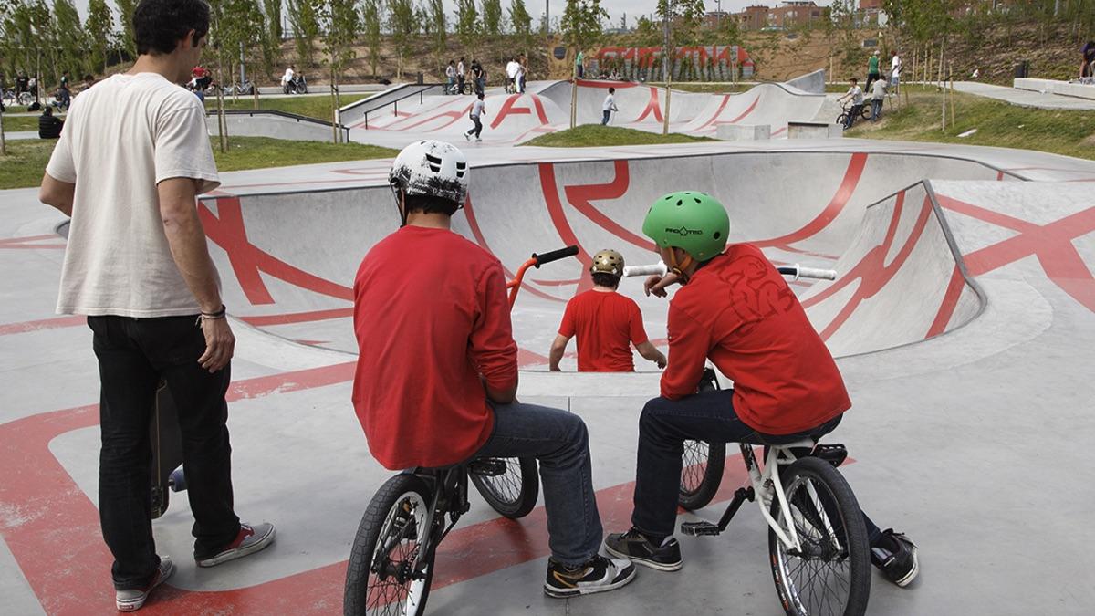 Parque de skate que será bautizado como Ignacio Echeverría. (Foto: Madrid)