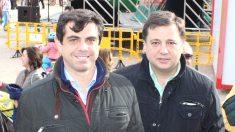 El que fuese alcalde de Albacete, Javier Cuenca, junto a su primer teniente y sucesor, Manuel Serrano (Foto: Twitter)