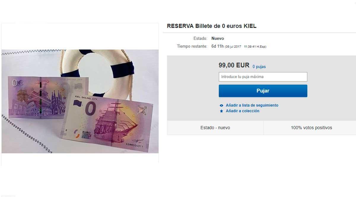 Billete de cero euros