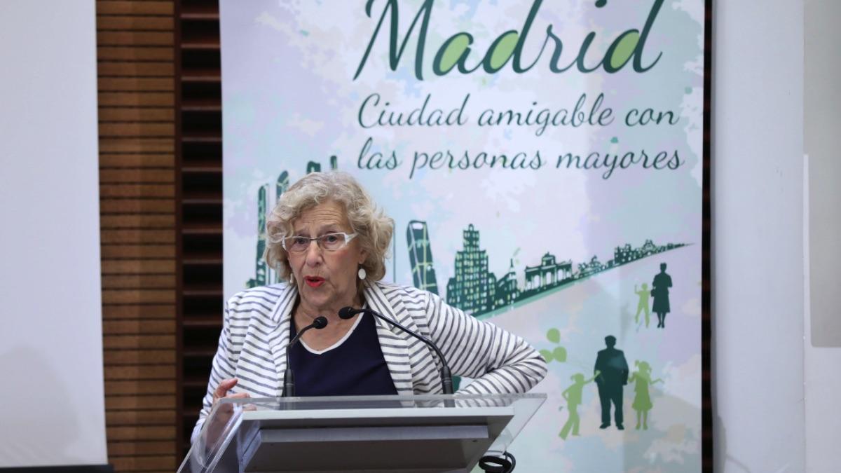La alcaldesa Manuela Carmena este jueves. (Foto: Madrid)