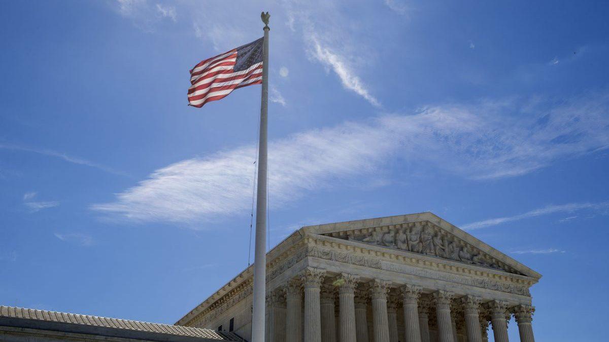 Bandera de EEUU en Washington.