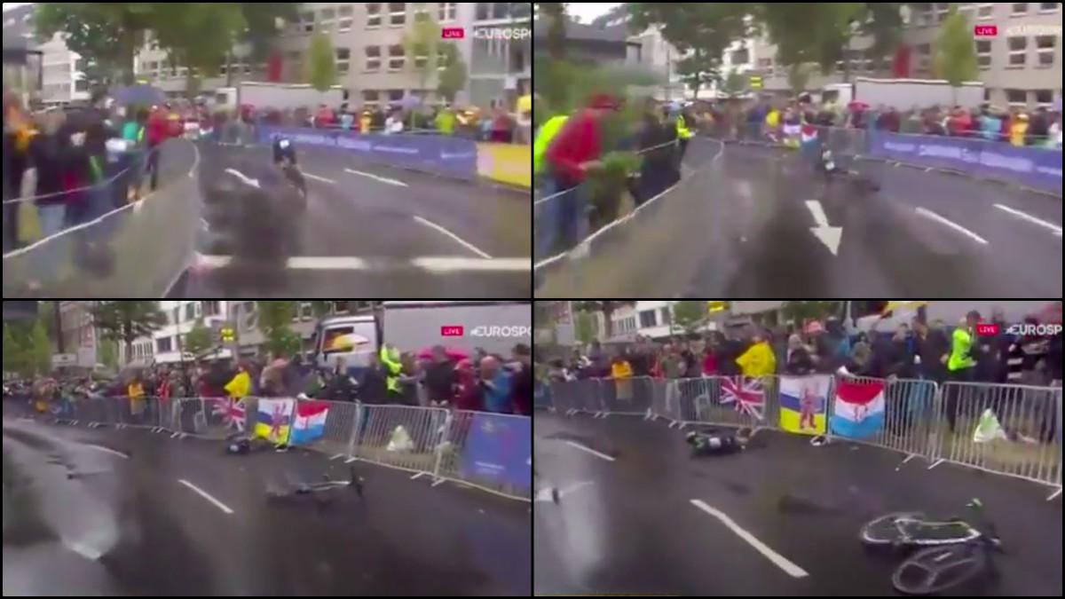 Valverde sufrió una grave caída.