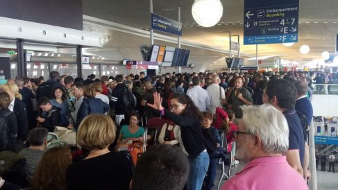 Terminal 2F del aeropuerto Charles de Gaulle en Francia.