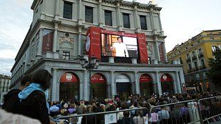 'Madama Butterfly' desde la Plaza de Oriente. (Foto: EFE)