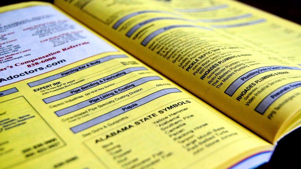 Páginas Amarillas.