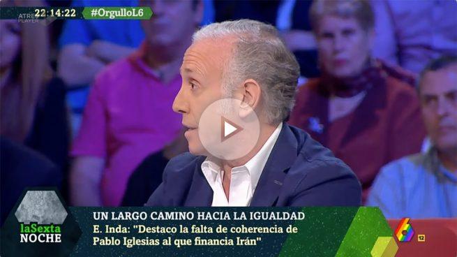 Inda: «Pablo Iglesias es un golfo moral, va al Orgullo y luego cobra de la dictadura que cuelga gays, la iraní»