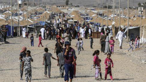 Campo de refugiados en Irak. (Foto: AFP)