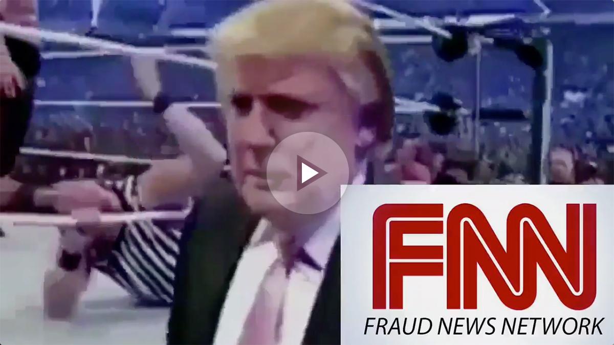 Donald Trump ha compartido este vídeo en Twitter en el que 'reduce' a la CNN por ser un «fraude».