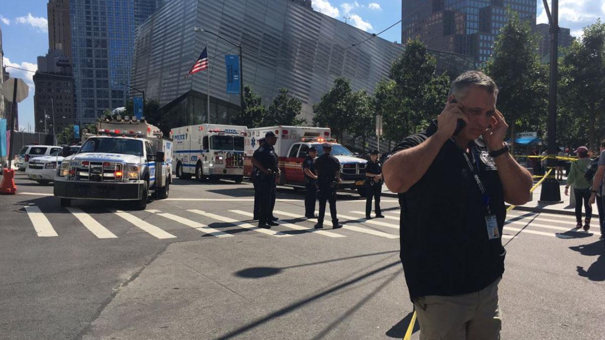 La policía tiene acordonado el hub del World Trade Center en Manhattan.