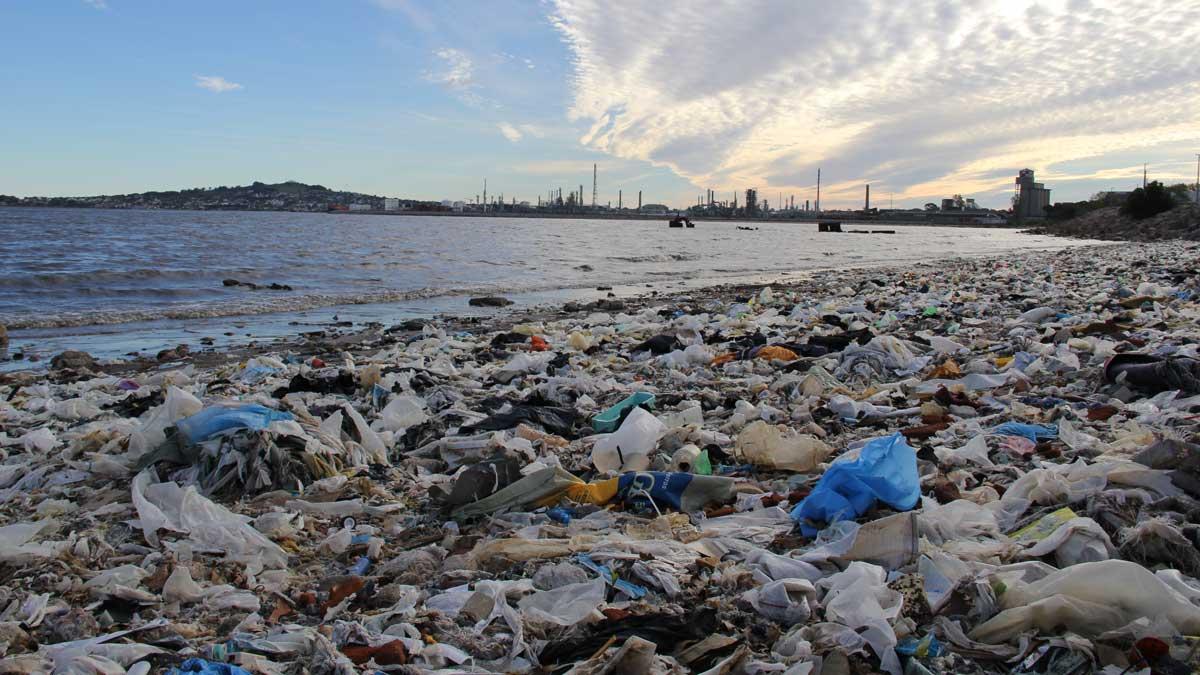 Las playas llenas de bolsas de plástico están por todo el mundo
