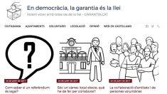 La web del PSC llamada 'garantia.cat' para advertir contra el referéndum ilegal de independencia.